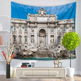 Roman Fontana of Trevi Palace of Interest Decorative Hanging Wall Tapestry
