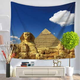 Egypt Pyramid and the Sphinx Pattern Decorative Hanging Wall Tapestry
