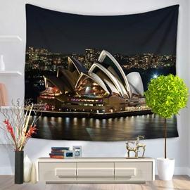The Sydney Opera House Night Scene Decorative Hanging Wall Tapestry
