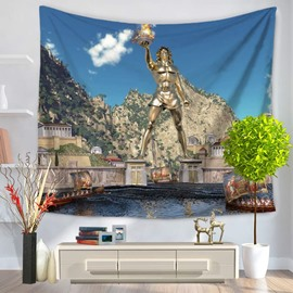 World Wonders The Statue of Zeus at Olympia Decorative Hanging Wall Tapestry