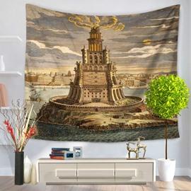 World Wonders The Pharos of Alexandria Decorative Hanging Wall Tapestry