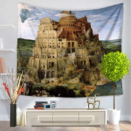 World Wonders The Hanging Gardens of Babylon Decorative Hanging Wall Tapestry