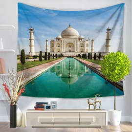 India Taj Mahal Famous Tourist Attractions Decorative Hanging Wall Tapestry