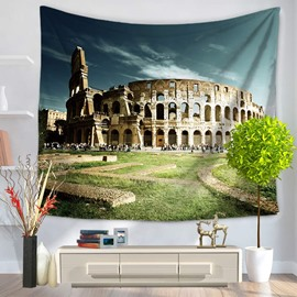 Place of Interest Italy Colosseum Pattern Hanging Wall Tapestry