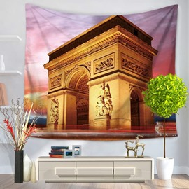 Paris Triumphal Arch Famous Tourist Attractions Decorative Hanging Wall Tapestry
