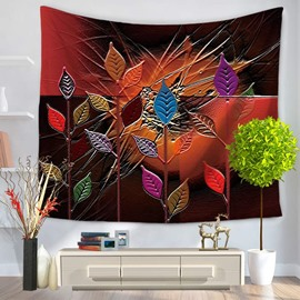 Artful and Colorful Leaves Pattern Decorative Hanging Wall Tapestry