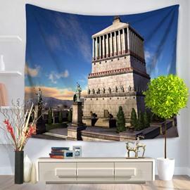 World Wonders Mausoleum of Halicarnassus Decorative Hanging Wall Tapestry