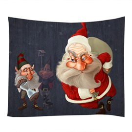 Santa Claus Figures Merry Christmas Decorative Hanging Wall Tapestry