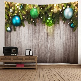 Chic Christmas Colorful Balls Decorative Hanging Wall Tapestry