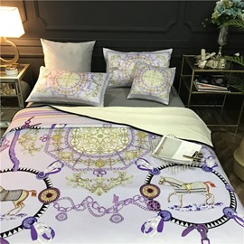 Dream Catcher and Horses Luxury Style 2-Piece Bed Pillowcases