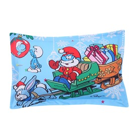 Papa Smurf Merry Christmas Delivering Gifts One Piece Bed Pillowcase
