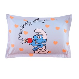 Smurf Playing Musical Instruments Printed One Piece Bed Pillowcase