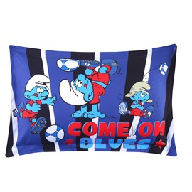 Come on Blues Soccer Smurfs Printed One Piece Bed Pillowcase