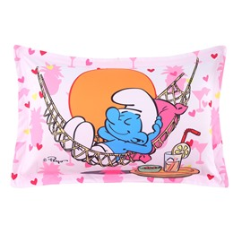 Smurf on Vacation with Hammock Printed One Piece Bed Pillowcase