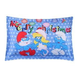 Merry Christmas with the Smurfs One Piece Bed Pillowcase