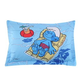 Smurf Floating on Ocean Sunbathing Printed One Piece Bed Pillowcase