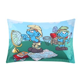 The Smurfs Outdoor Adventures Printed One Piece Bed Pillowcase