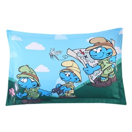 Nature Watcher Smurfs and Dragonfly One Piece Bed Pillowcase