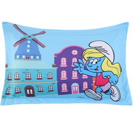 Running Smurfette Printed One Piece Bed Pillowcase