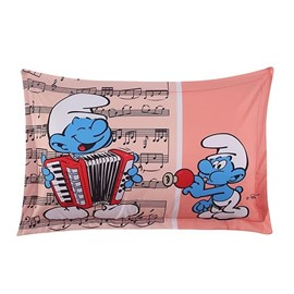 The Smurfs Musical Concert One Piece Bed Pillowcase