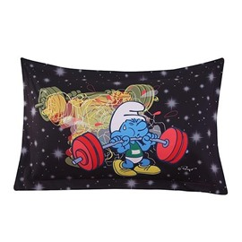 Weightlifter Smurf Flashlight Printed One Piece Bed Pillowcase