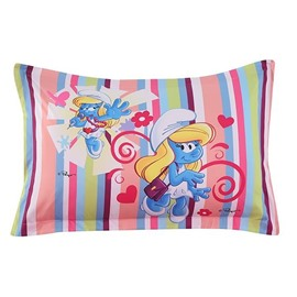 Dreamy Smurfette Singer and Colorful Stripes One Piece Bed Pillowcase