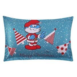 Merry Christmas Papa Smurf Printed One Piece Bed Pillowcase