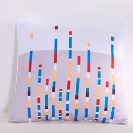 Simple Flowing Lines Pattern Modern Style Decorative Square Polyester Throw Pillowcases