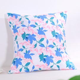 Fresh Floral Silhouette Pattern Decorative Square Polyester Throw Pillowcases