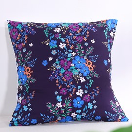Mysterious Floral Blossom Pattern Decorative Square Polyester Throw Pillowcases