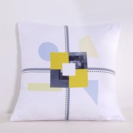 Symmetrical Geometric Pattern Decorative Square Polyester Throw Pillowcases