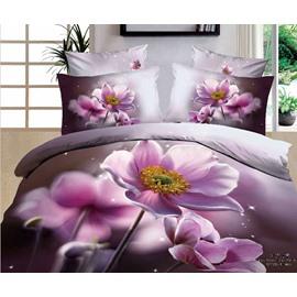 3D Poppy Printed Cotton 4-Piece Bedding Sets/Duvet Covers