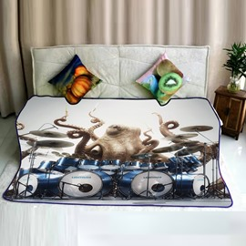 Octopus Personal Solo Concert Pattern Flannel Bed Blankets