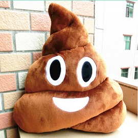 Poop Face Decorative Soft Stuffed Toy Throw Pillow