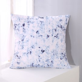 Abstract Scrawl White Pattern Decorative Square Polyester Throw Pillowcases