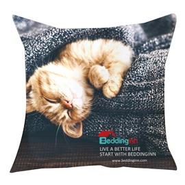 Beddinginn Anniversary Celebration Kitty Printed Throw Pillowcase