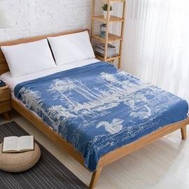 Animal&Plant Pattern Cotton Material Spring Season Towel Blanket