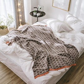 Winter Season Cotton Material Stripe Pattern Bedding Blanket