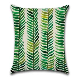 Modern Style Indoor Occasion Plant Pattern Hand Wash Pillow Case