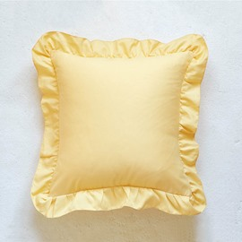 Pure Color Cushion Type Polyester Material Hand Wash Cleaning Throw Pillow