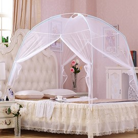 Simple Style Bottom Two Openings Mongolian Yurt Bed Net