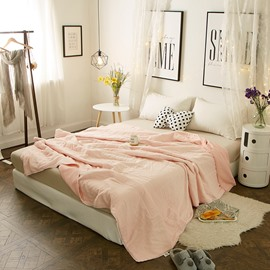 Pure Elegant Pink Simple Princess Style Cotton Air Conditioner Quilt