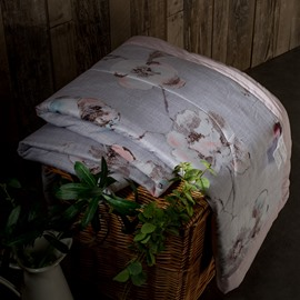 Flower Pattern Light Gray Tencel Air Conditioner Quilt