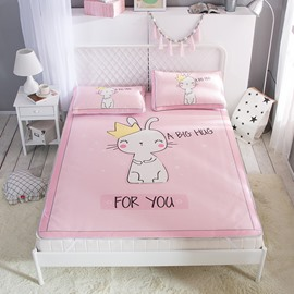 White Cat King Digital Printing Pink Cooling 3-Piece Summer Sleeping Mat Sets