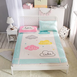 Cloud Shape Printing Cooling 3-Piece Summer Sleeping Mat Sets