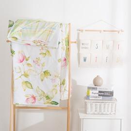 Flower Pattern Simple Rural Style Cotton Summer Quilt