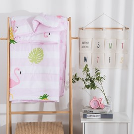 Pineapple And Flamingo Pattern Sport Style Cotton Air Conditioner Quilt