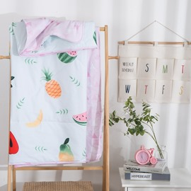 Fruits Pattern White Simple Style Cotton Air Conditioner Quilt