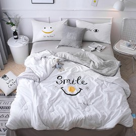 Funny Smiley Face Reactive Printing Cotton Quilt