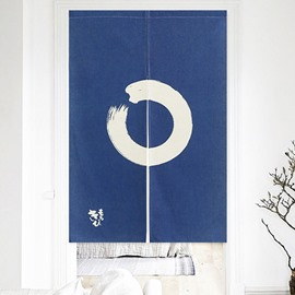 White Circle Printing Blue Decorative Hanging Wall Tapestry
